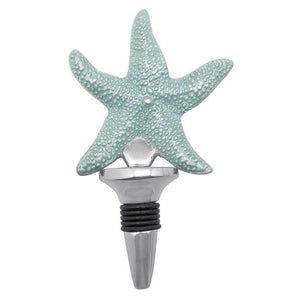 Aqua Starfish Bottle Stopper