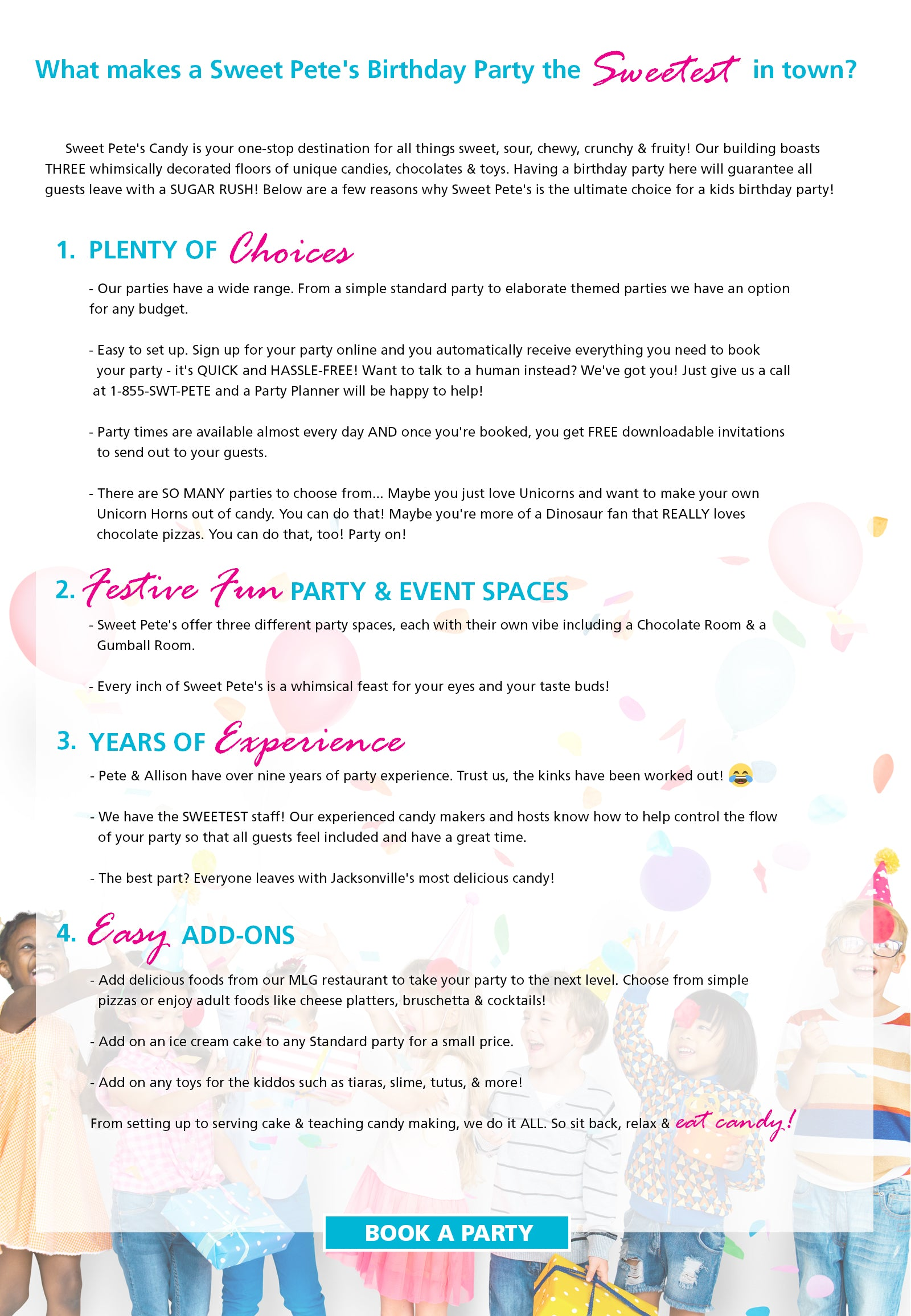 Amazingly Sweet Birthday Parties For All Ages Jacksonville Fl