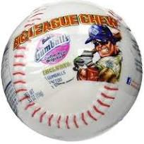 Big League Chew Gumballs in a Plastic Baseball with Stickers