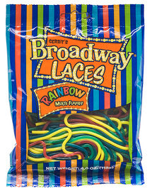 Bagged Rainbow Broadway Laces