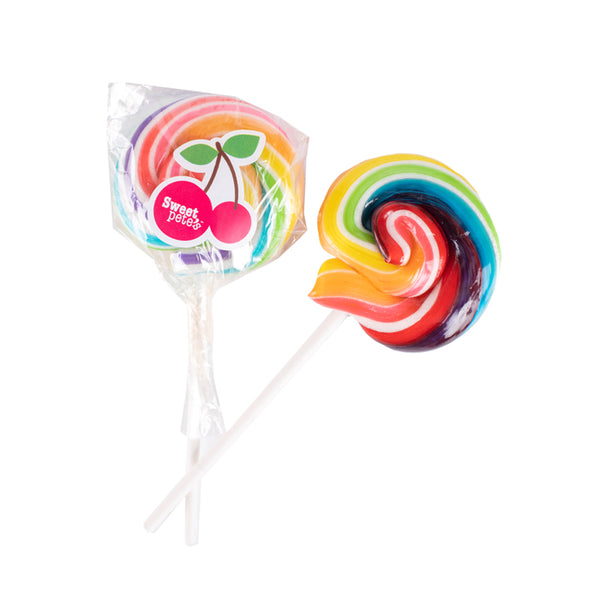 Hand-pulled Lollipop Rainbow Cherry Small