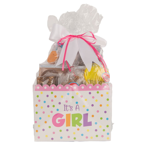 Sweet Box Basket It's A Girl Vegan