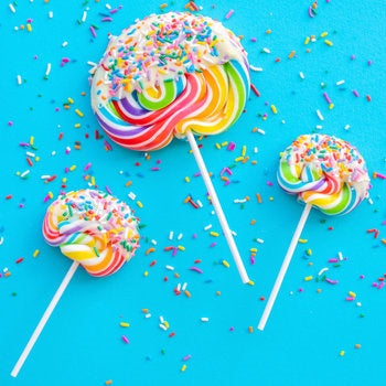 Celebration Chocolate Dipped Rainbow Lollipop Small