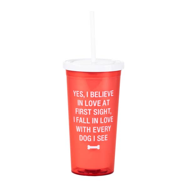 Love at First Sight Dog Tumbler