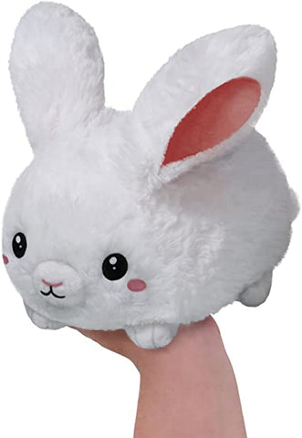 Plush Squishable White Fluffy Bunny