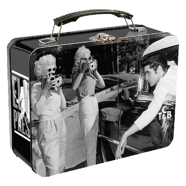 Lunchbox Elvis Black & White