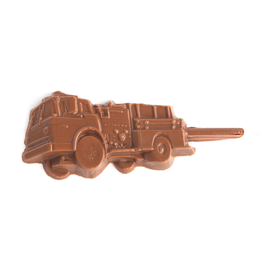 Milk Chocolate Fire Truck Lollipop