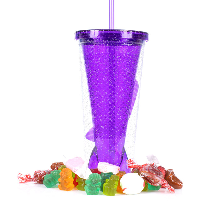 Mermaid Tail Candy Filled  Tumbler