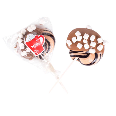 Hand-pulled Hot Cocoa Chocolate Dipped Lollipop