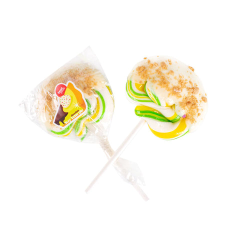 Handpulled Chocolate Dipped Key Lime Pie Lollipop