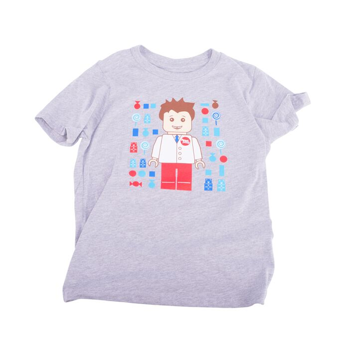 Childs Lego Tee Grey
