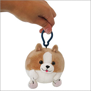 Plush Squishable Corgi Keychain