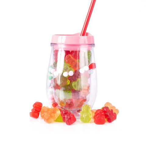 Retro Pom Pom Candy Wine Tumbler