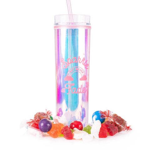 Sparkle But Never Fade Candy Tumbler