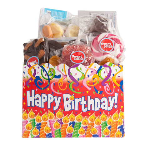 Sweet Box Basket Happy Birthday Vegan