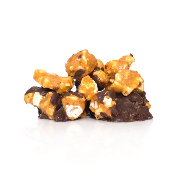 Chocolate Caramel Covered Popcorn