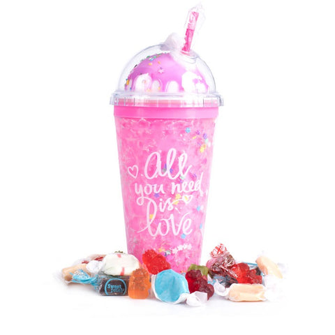 All you need is love Pink Ice Cream Sundae Tumbler