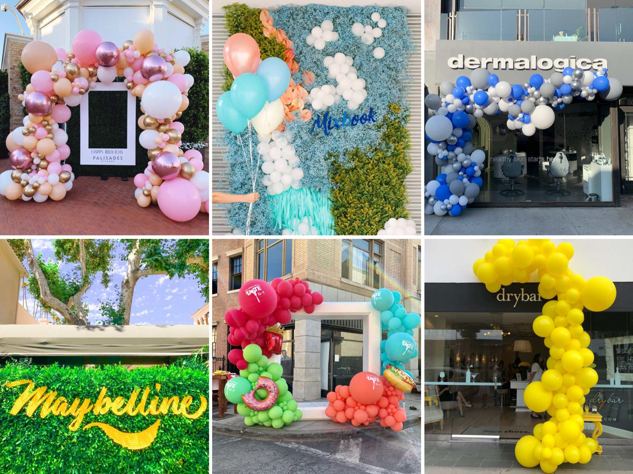 Best balloon garlands and delivery services near me by Bonjour Fete including organic and mosaic letter balloons