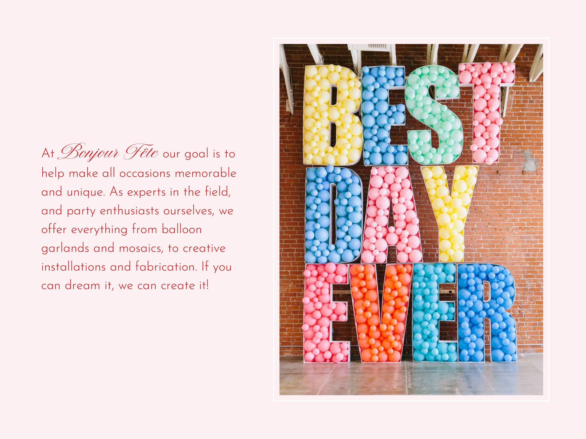 Best Balloon Delivery including Letter and Number Mosaics in Los Angeles