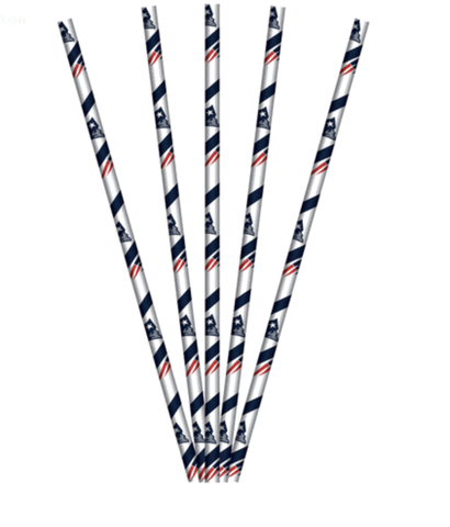 NEW ENGLAND PATRIOTS PAPER STRAWS
