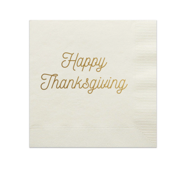 HAPPY THANKSGIVING PARTY NAPKINS