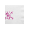 START THE PARTY WHITE & PINK FOIL PARTY NAPKINS