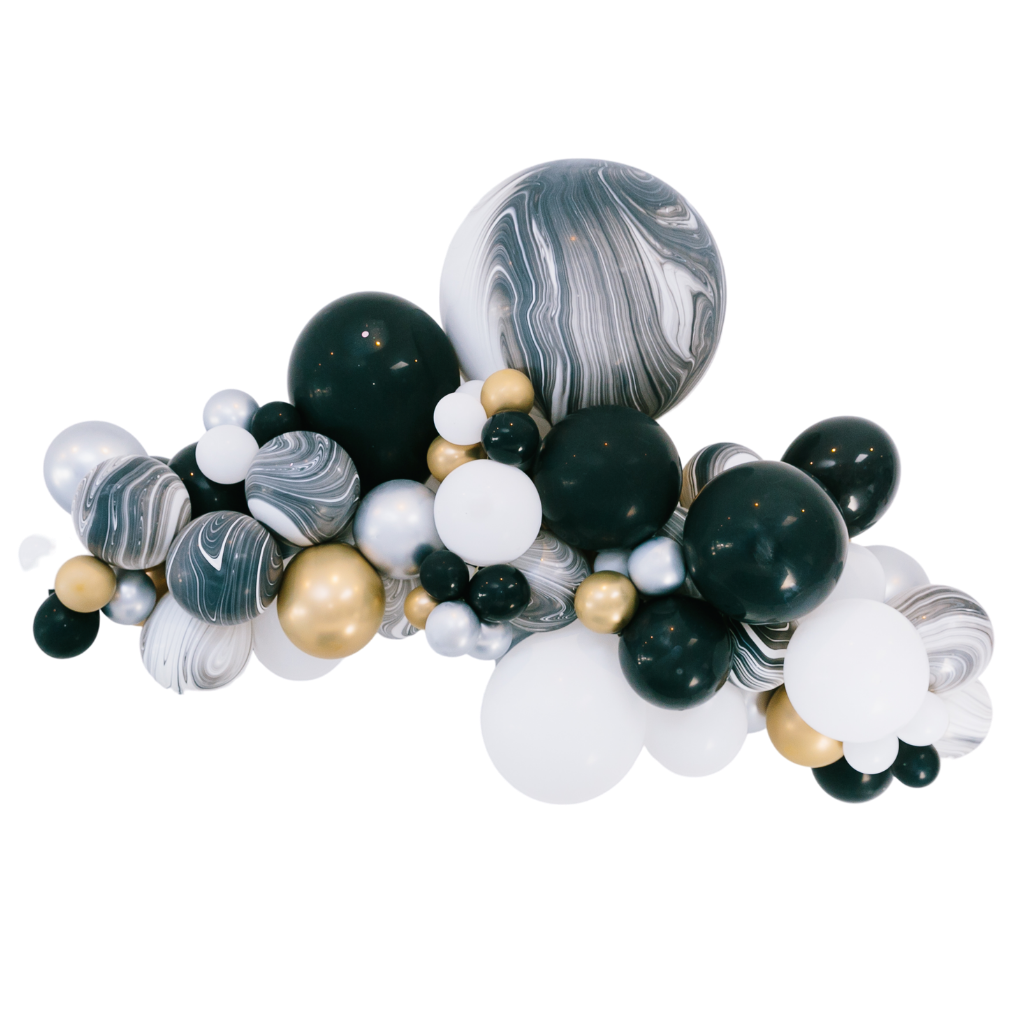 Black White Balloon Garland Bonjour Fete