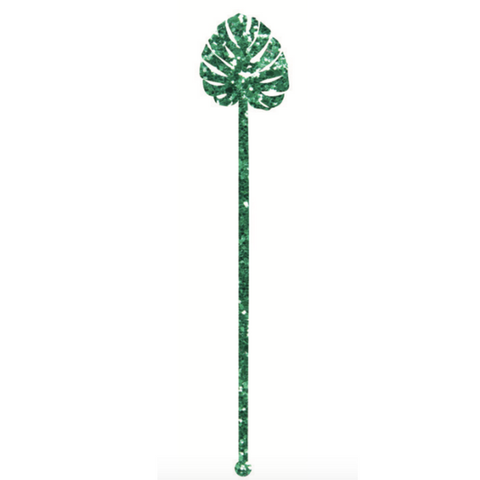 MONSTERA LEAF ACRYLIC BEVERAGE STIRRERS