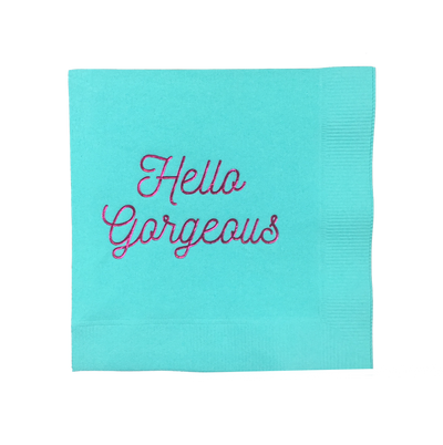 HELLO GORGEOUS TIFFANY BLUE PARTY NAPKINS - Bonjour F'éte