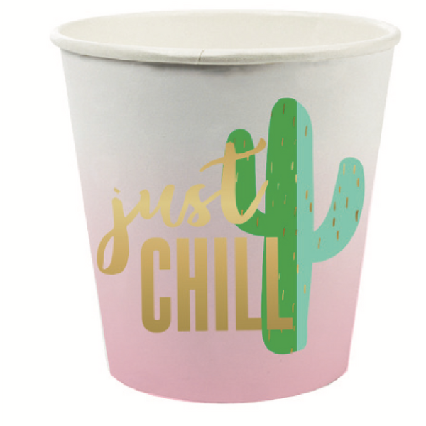JUST CHILL PAPER SHOT GLASSES
