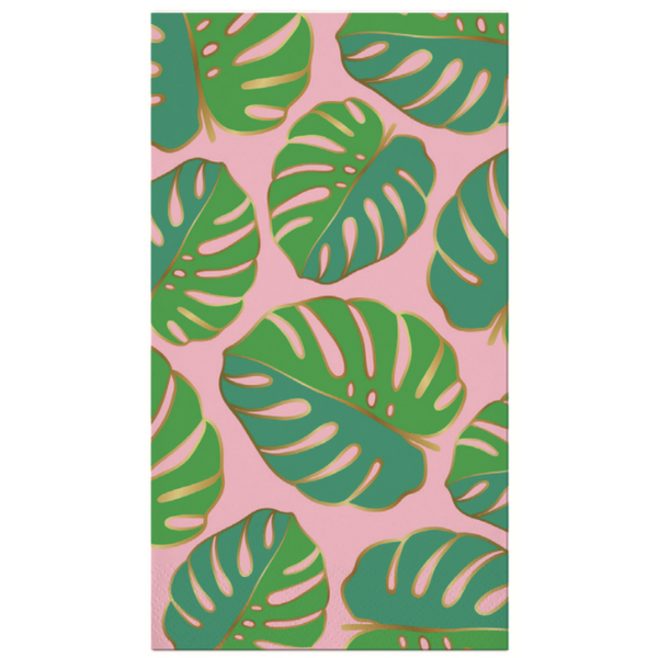 MONSTERA LEAF FOIL GUEST TOWEL