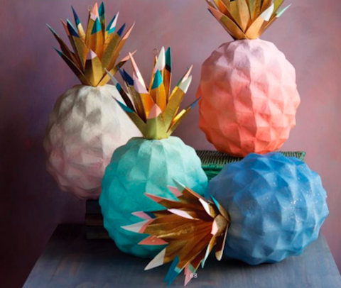 PINEAPPLE DISPLAY PAPERMACHE