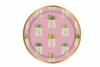 GOLD FOIL AND PINK PINEAPPLE PLATE