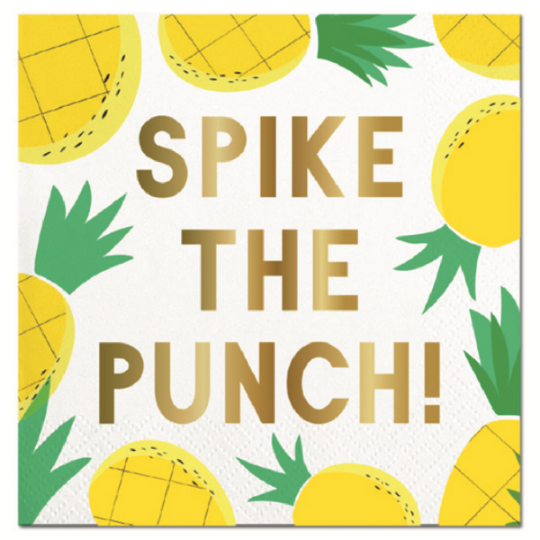 SPIKE THE PUNCH BEVERAGE NAPKINS