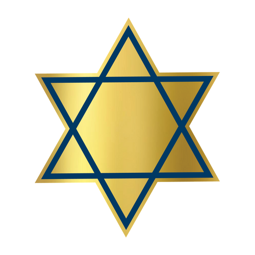 STAR OF DAVID DIE-CUT PLATE