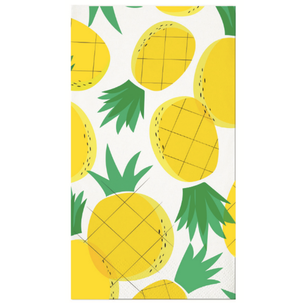 TROPICAL PINEAPPLE GUEST TOWELS