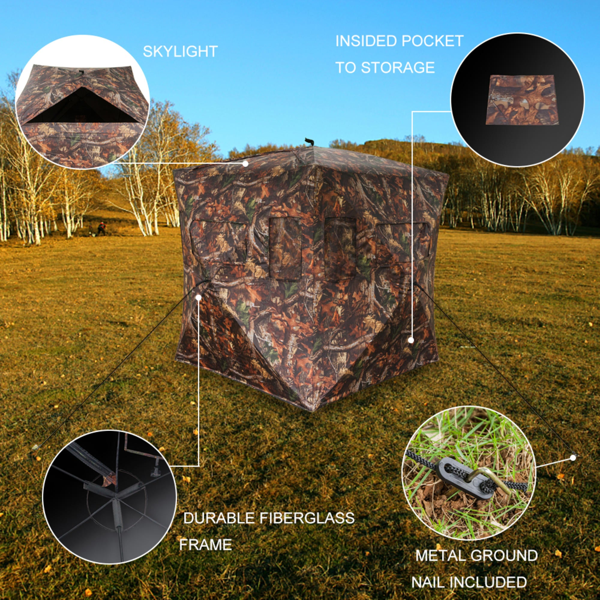 Camouflage tent pop-up blinds