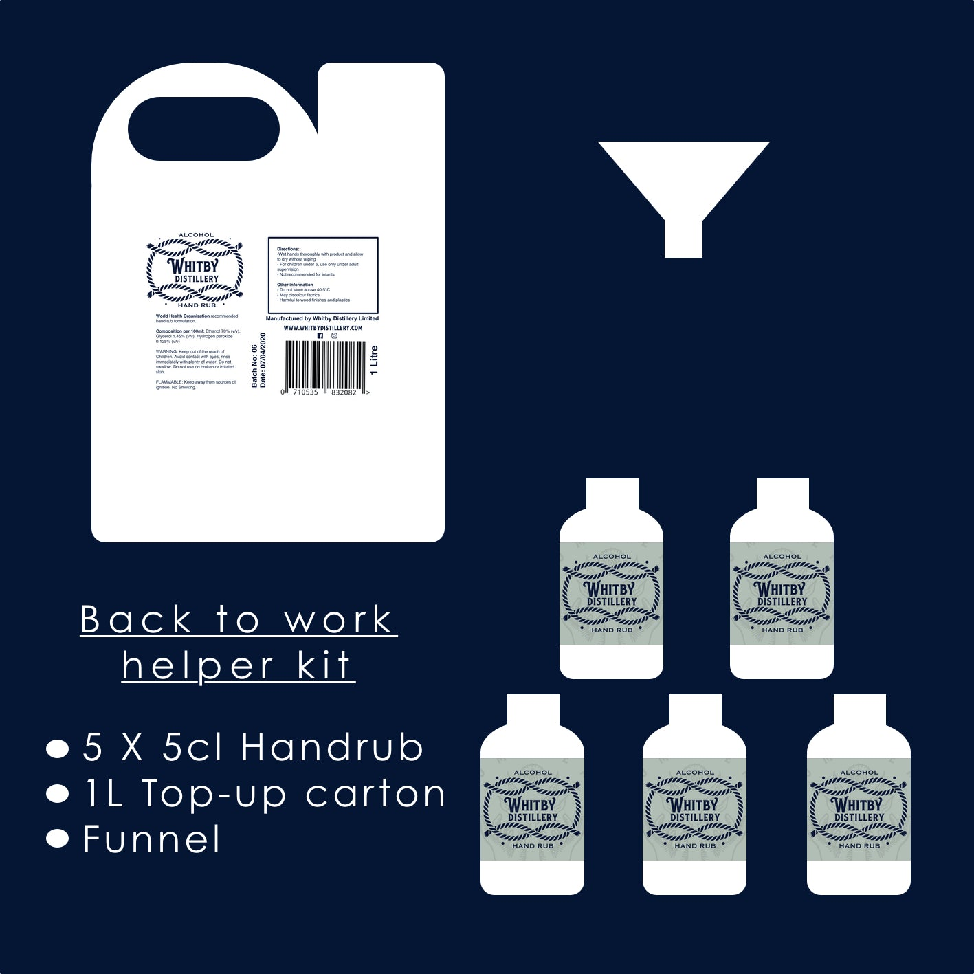 Helper Kit - Alcohol Hand Rub Set