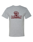 Benton Team Athletic Gray T-Shirts - Pick Your Sport