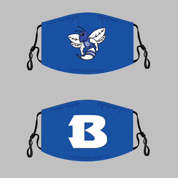 Bryant Hornets Adjustable Face Covers - 3-Pack - Multiple Options