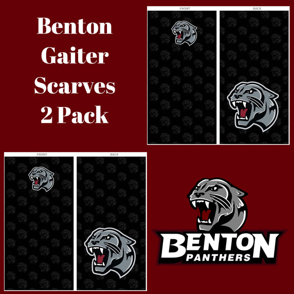 Benton Panthers Gaiter Scarf - 2 Pack