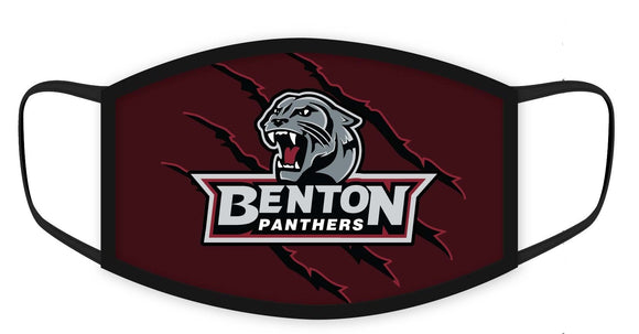 Benton Panthers Fashion Face Covers