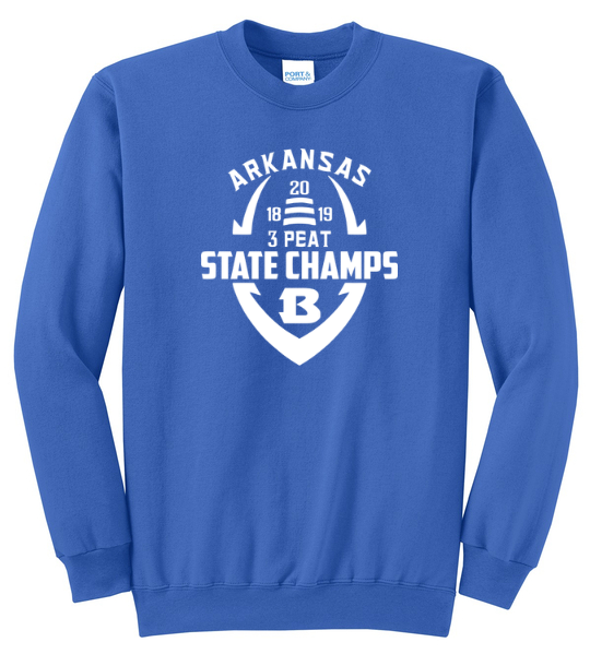 Bryant Hornet State Champion Crewneck Sweatshirts - Multiple Options