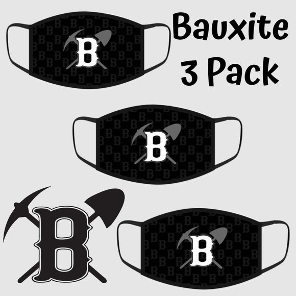 Bauxite Miners Fashion Face Cover - 3-Pack - Youth & Adult