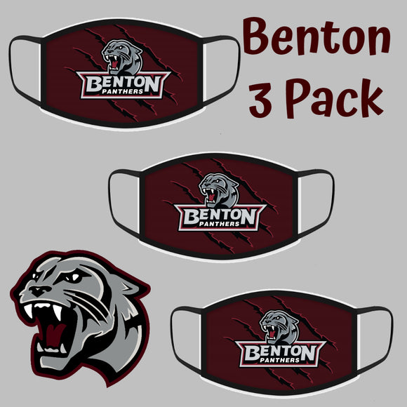 Benton Panthers Fashion Face Covers - 3-Pack