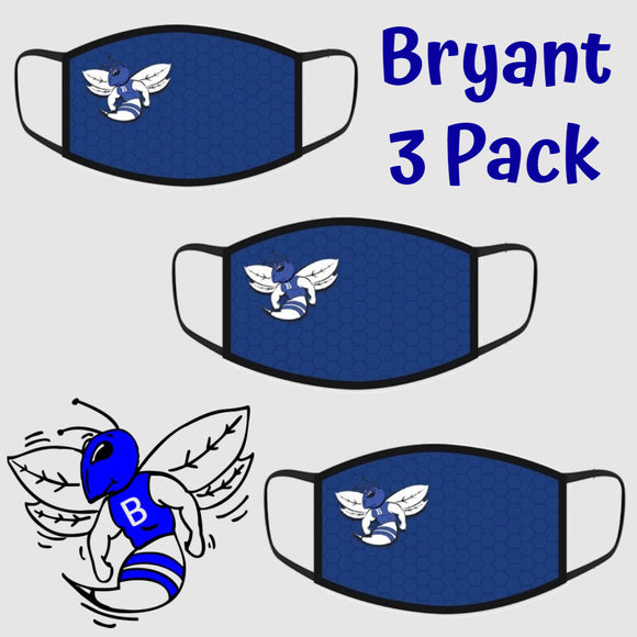 Bryant Hornets Fashion Face Cover - 3-Pack