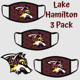 Lake Hamilton Wolves Fashion Face Cover - 3-Pack