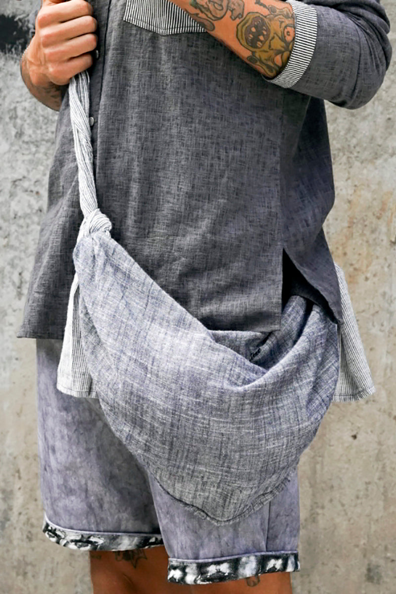 Men Pure Linen Sanjo Bag
