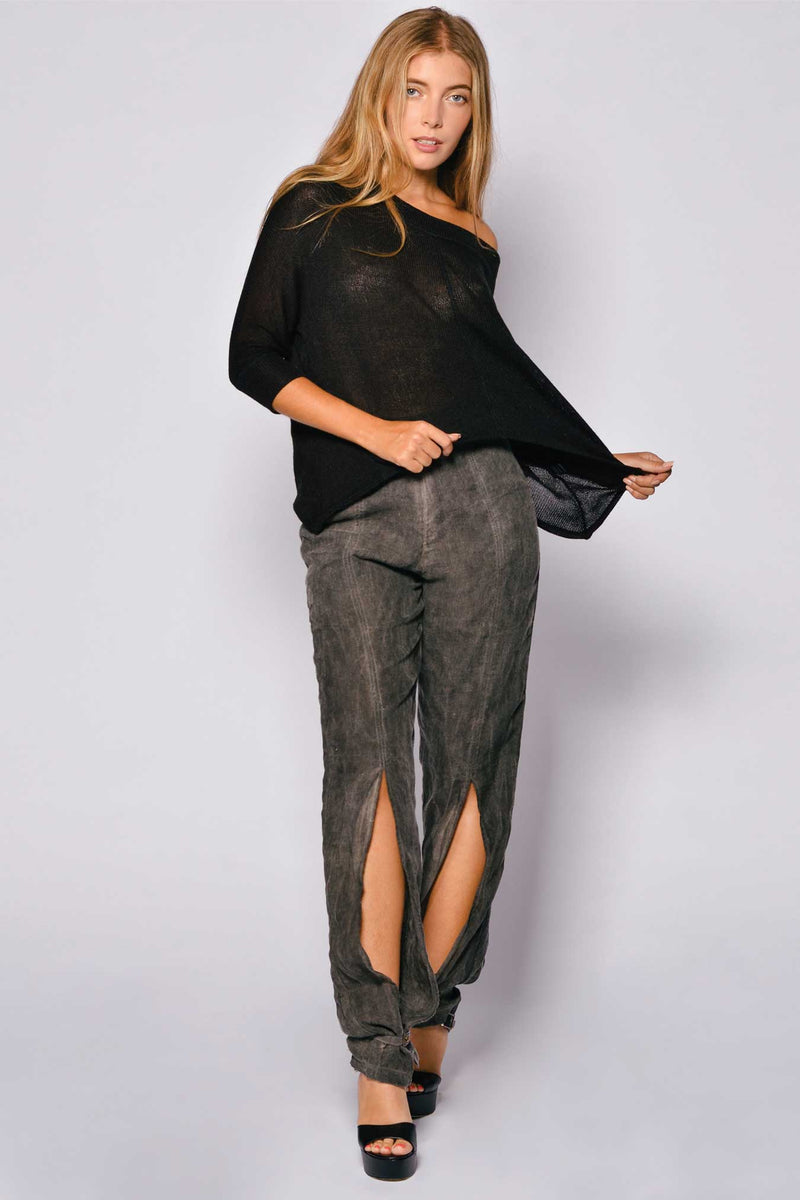 Washed Out Linen Giovani Long Pant