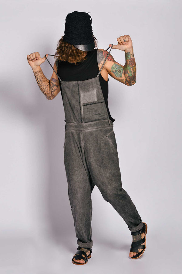 Washed Out Pure Linen Overall Irazu Salopet